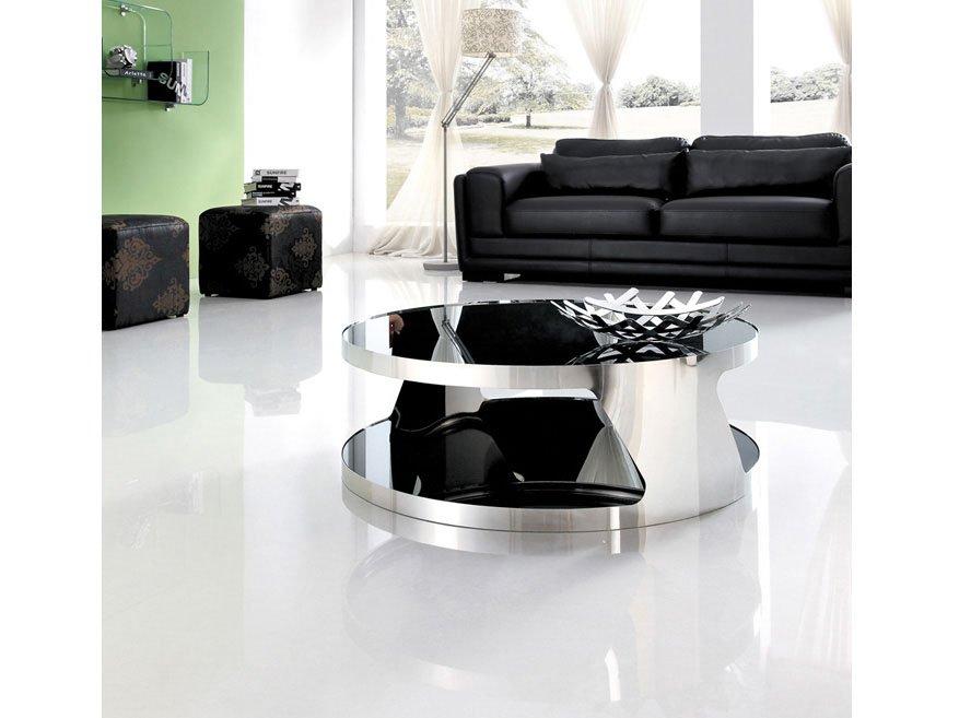 Table basse verre DELANO – Noir